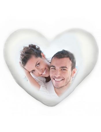 Cojín con su foto con forma de corazón 40x44 cm