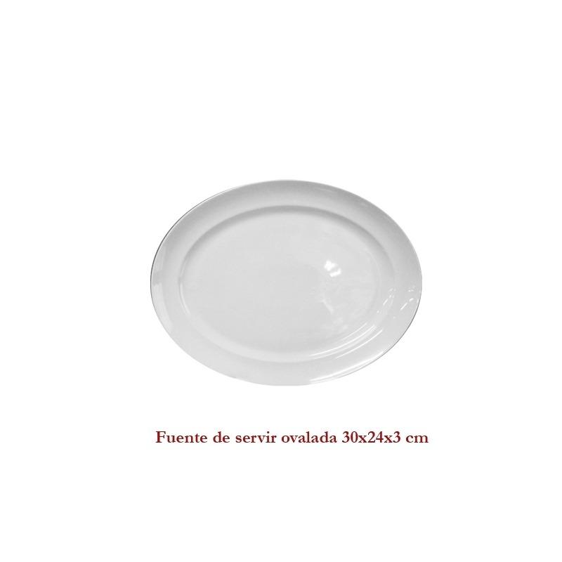 Fuente Blanca de Servir Ovalada 30X24