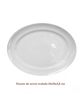 Fuente blanca de servir ovalada 41X31X3,8