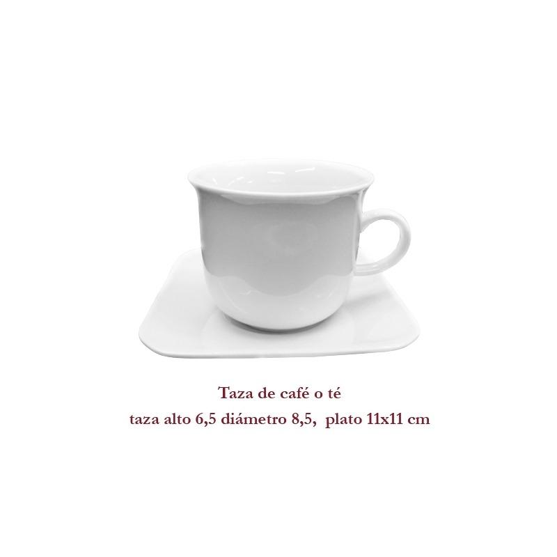 Taza de té o café mediana.
