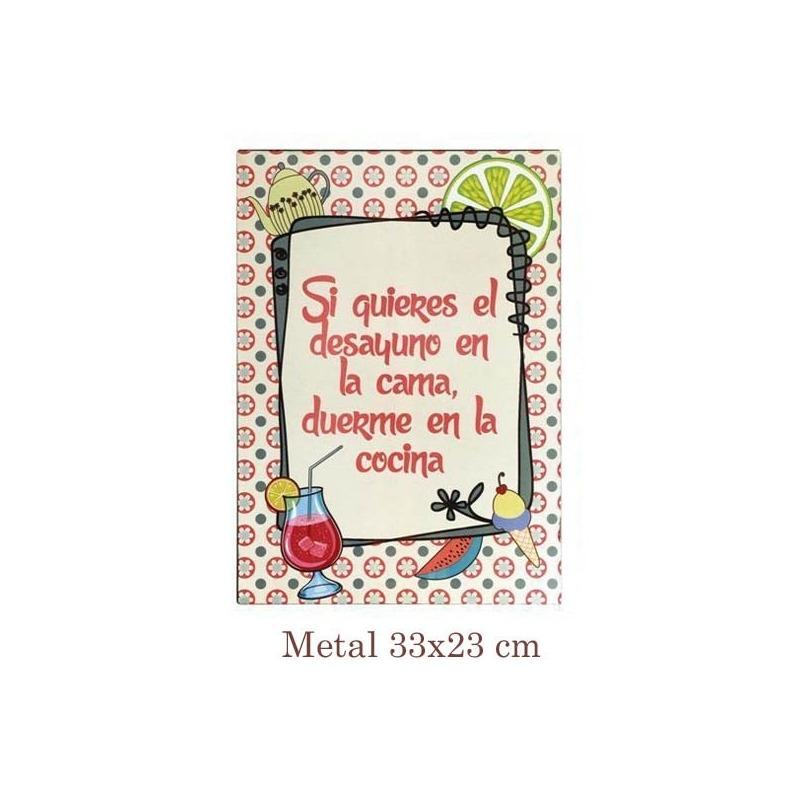 Placa decorativa con frases