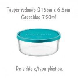 Tupper de Cristal Redondo Ø15cm 0,75L