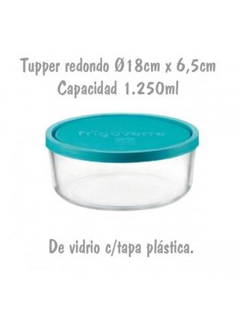 Tupper de Cristal Redondo Ø18cm 1,25L