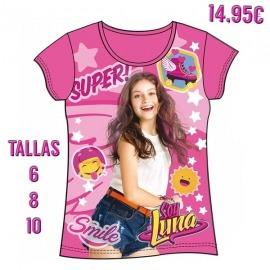 Camiseta Soy Luna Fucsia