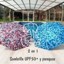 2 en 1 Paraguas y Sombrilla de Mano