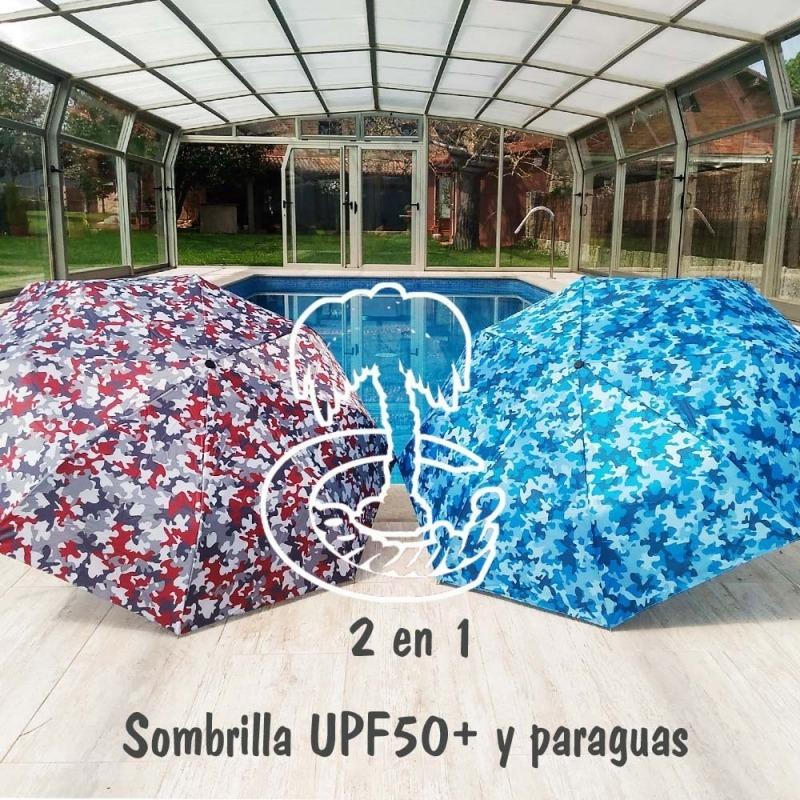 2 en 1 Paraguas y Sombrilla Plegable