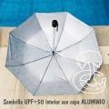 Paraguas y parasol pantalla total juntos