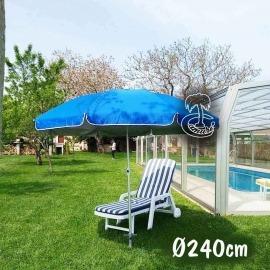Parasol de Jardín y Playa Aluminio 240cm