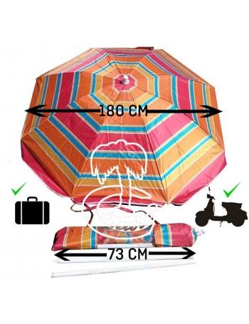 Sombrilla de Playa Ultraplegable180-70cm para moto y viaje.