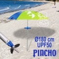 Parasol de Playa Acero 180cm con Punta de Enroscar