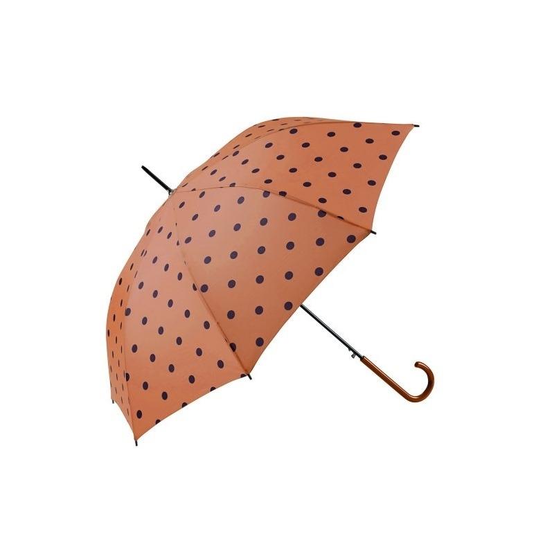 Paraguas topos naranja
