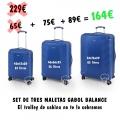 Set de tres Trolleys Gabol Azul