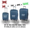 Set de tres Trolleys Duros Azul