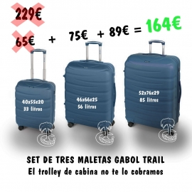 Set de tres Trolleys Rígidos Gabol