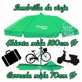 Sombrilla Plegable 180-70cm para moto y viaje. 2017