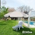 Sombrilla Jardín Aluminio 240cm Beig
