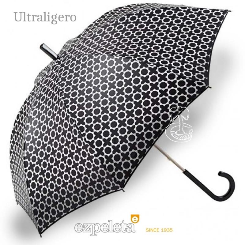 Paraguas Ezpeleta Blanco y Negro Cruces