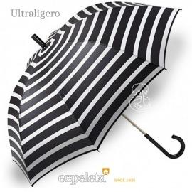 Paraguas Ezpeleta Blanco y Negro Rayas