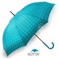 Paraguas Gotta de Cuadros Fucsia turquesa