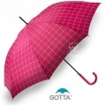 Paraguas Gotta de Cuadros Fucsia