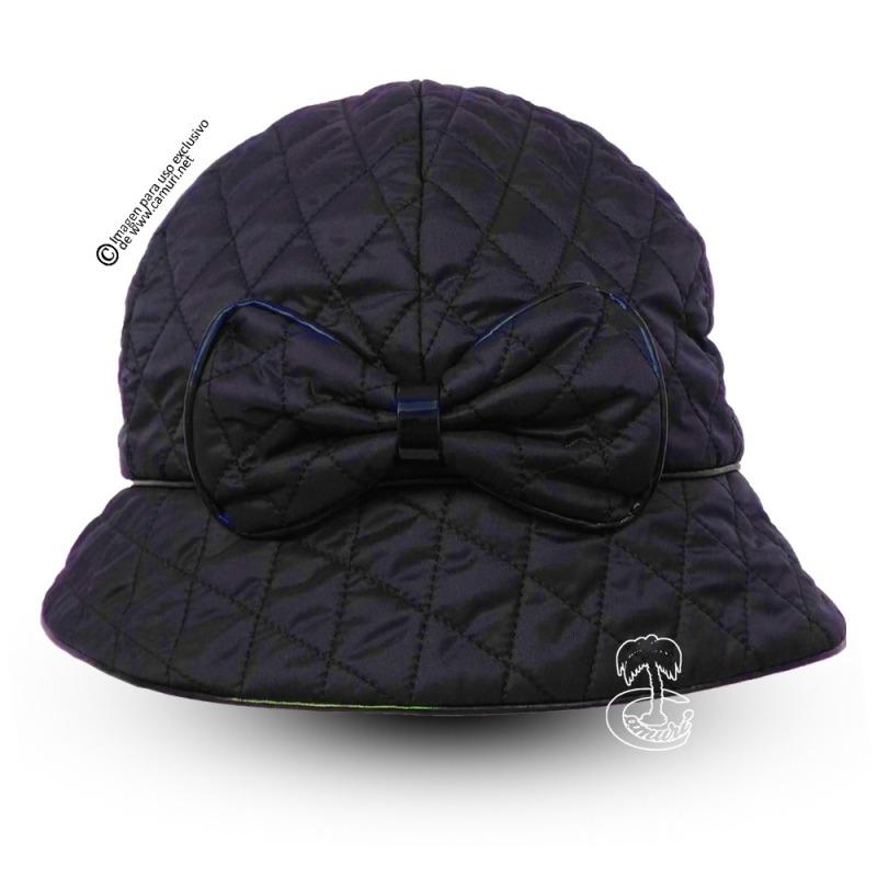 SOMBREROS DE MUJER INVIERNO. Sombrero de lluvia de mujer guateado ... 845e452c345
