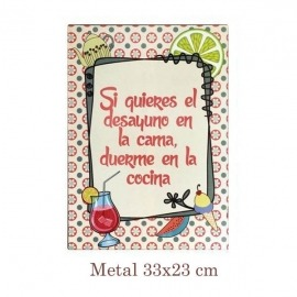 Placa decorativa con frases
