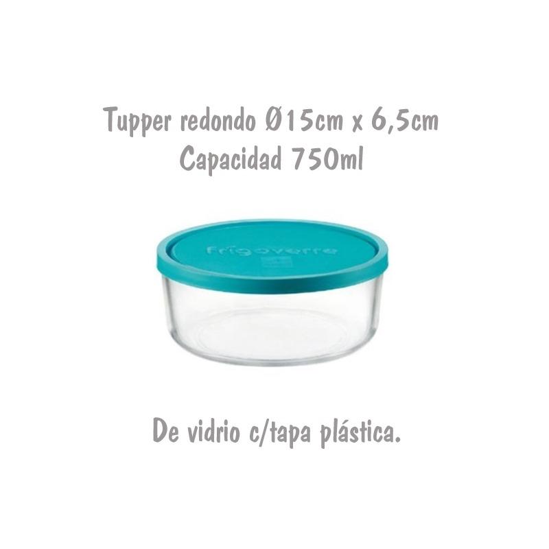 Tupper de Cristal Redondo Ø15cm 0,75L Bormioli