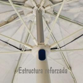 Sombrilla Playa reforzada, resistente al viento y Filtro UVA total