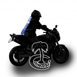 Sombrilla para moto, con doble asa para llevar de mochila