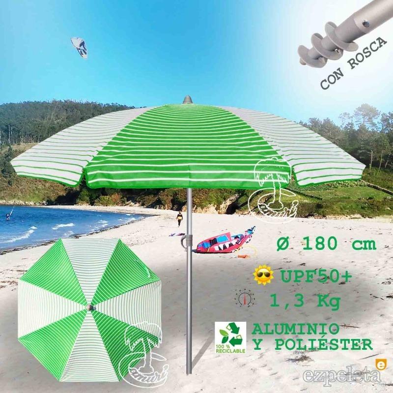 Sombrilla de Playa Aluminio Inoxidable VERDE