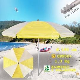 Sombrilla de  Playa EZPELETA 180cm Ligera de Aluminio 2019