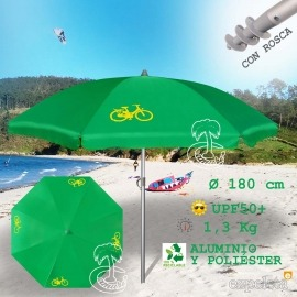 Sombrilla de Playa Aluminio Inoxidable VERDE
