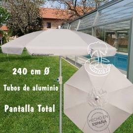 Sombrilla  Jardín Aluminio 240cm Beige