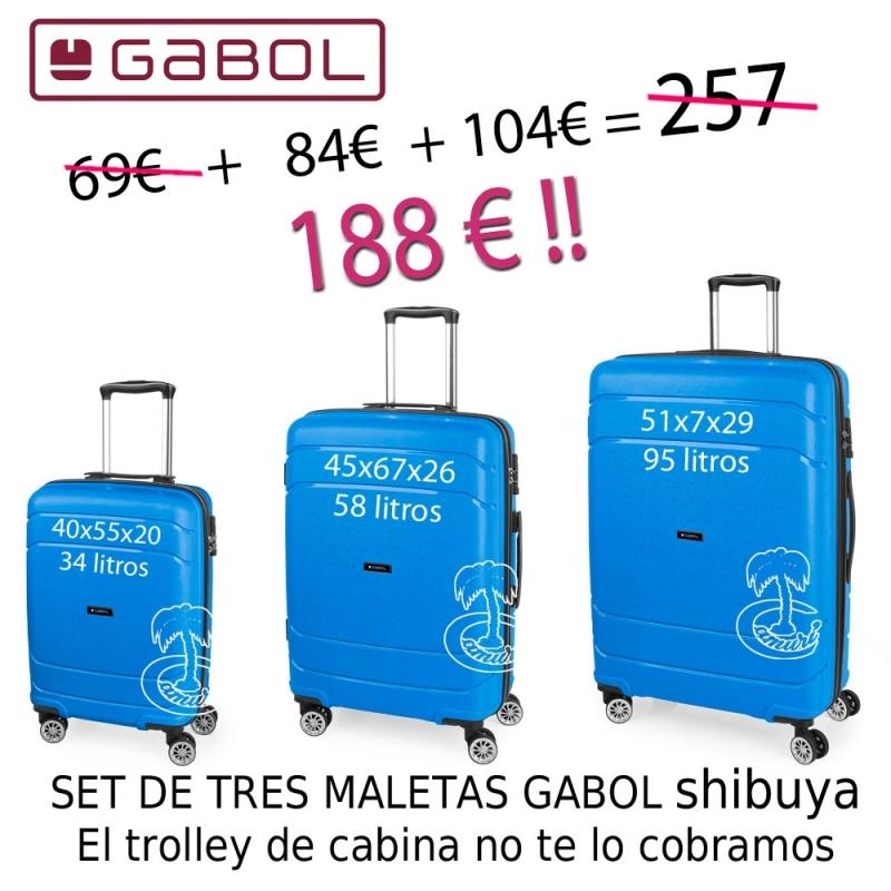 Pack deTres Trolleys Shibuya Azul