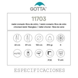 Paraguas Transparente Especificaciones