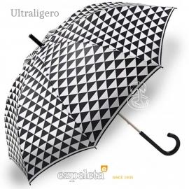 Paraguas Ezpeleta Blanco y Negro Triángulos