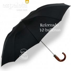 Paraguas Plegable Puño Madera