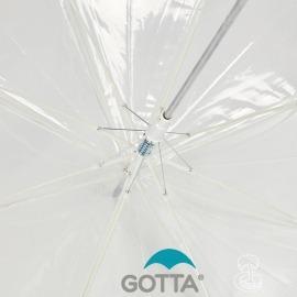Paraguas Transparente detalle ballenas