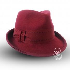 Sombrero Borsalino con Pespuntes Granate