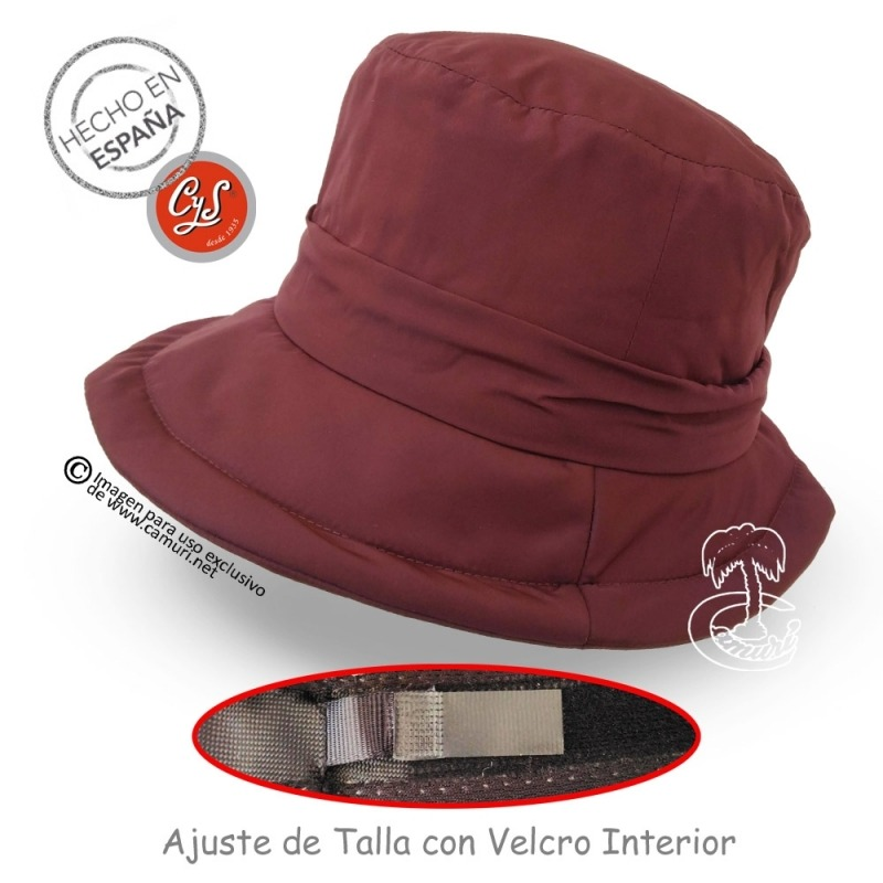 Sombrero impermeable ajustable