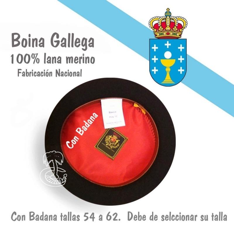 Boina Gallega con badana
