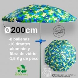 Sombrilla Antiviento 200cm 16 Tirantes