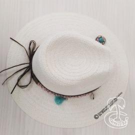 Sombrero abalorios
