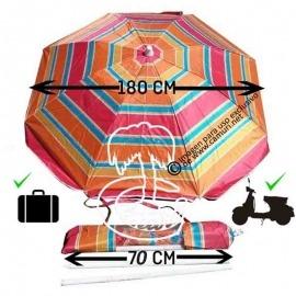 Sombrilla de playa para la bicicleta