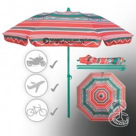 Sombrilla de playa para viajar