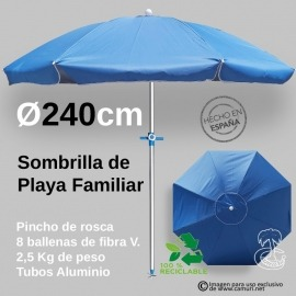 Sombrilla de playa XXL