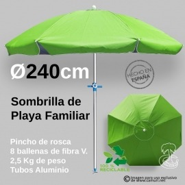 Sombrilla de Playa Familiar