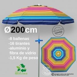 Sombrilla Antiviento 200cm...