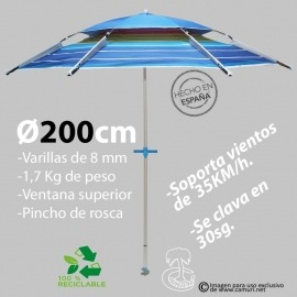 Sombrilla Strong Wind 200